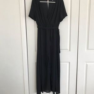 Dresses & Skirts - Long black dress with slit